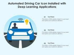 Automated Driving Car Icon Installed With Deep Learning Applications