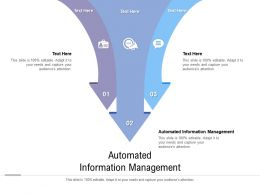 Automated Information Management Ppt Powerpoint Presentation File Shapes Cpb