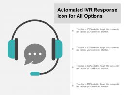 Automated Ivr Response Icon For All Options