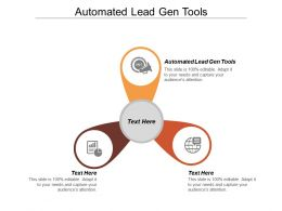 Automated Lead Gen Tools Ppt Powerpoint Presentation File Background Image Cpb