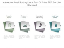 Automated Lead Routing Leads Pass To Sales Ppt Samples Download