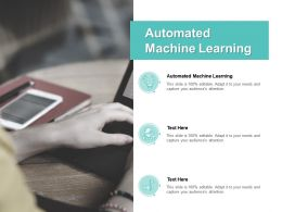 Automated Machine Learning Ppt Powerpoint Presentation Pictures Background Images Cpb
