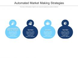 Automated Market Making Strategies Ppt Powerpoint Presentation Show Cpb