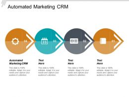 Automated Marketing Crm Ppt Powerpoint Presentation File Outline Cpb