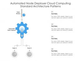 Automated Node Deployer Cloud Computing Standard Architecture Patterns Ppt Powerpoint Slide