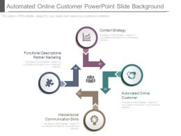 Automated Online Customer Powerpoint Slide Background