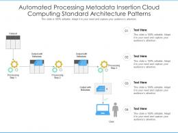 Automated Processing Metadata Insertion Cloud Computing Standard Architecture Patterns Ppt Slide