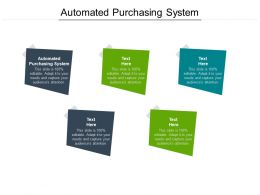 Automated Purchasing System Ppt Powerpoint Presentation Icon Clipart Cpb
