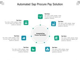 Automated Sap Procure Pay Solution Ppt Powerpoint Presentation Infographics Topics Cpb