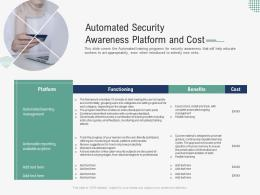 Automated Security Awareness Platform And Cost Implementing Security Awareness Program Ppt Tips