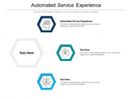 Automated Service Experience Ppt Powerpoint Presentation Inspiration Good Cpb