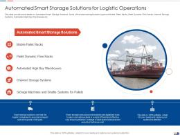 Automated Smart Storage Solutions For Logistic Operations Ppt Summary File