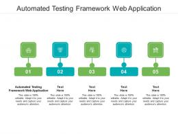 Automated Testing Framework Web Application Ppt Powerpoint Presentation Outline Ideas Cpb
