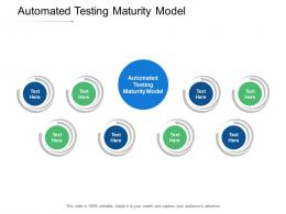 Automated Testing Maturity Model Ppt Powerpoint Presentation Ideas Visual Aids Cpb