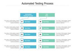 Automated Testing Process Ppt Powerpoint Presentation Summary Tips Cpb