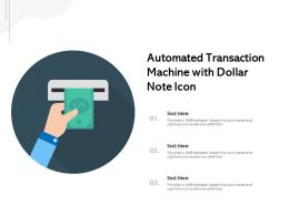 Automated Transaction Machine With Dollar Note Icon