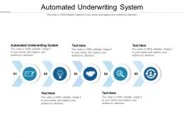 Automated Underwriting System Ppt Powerpoint Presentation File Design Ideas Cpb