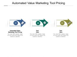 Automated Value Marketing Tool Pricing Ppt Powerpoint Presentation Pictures Graphic Tips Cpb