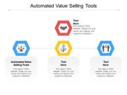 Automated Value Selling Tools Ppt Powerpoint Presentation Styles Information Cpb