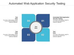 Automated Web Application Security Testing Ppt Powerpoint Presentation Professional Format Cpb