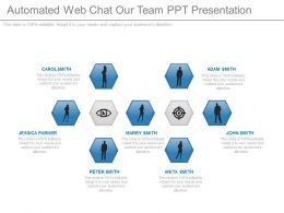 automated_webchat_our_team_ppt_presentation_Slide01
