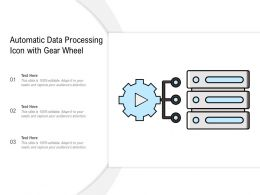 Automatic Data Processing Icon With Gear Wheel