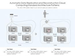 Automatic Data Replication And Reconstruction Cloud Computing Standard Architecture Patterns Ppt Slide