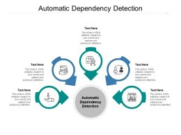 Automatic Dependency Detection Ppt Powerpoint Presentation Summary Microsoft Cpb