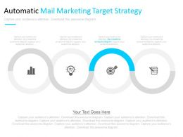 Automatic Email Marketing Target Strategy And Analysis Powerpoint Slides