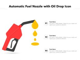 Automatic Fuel Nozzle With Oil Drop Icon