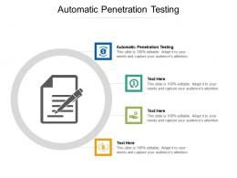 Automatic Penetration Testing Ppt Powerpoint Presentation Model Samples Cpb
