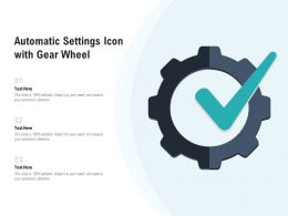 Automatic Settings Icon With Gear Wheel