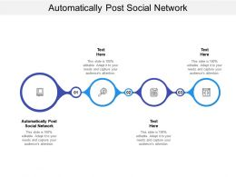 Automatically Post Social Network Ppt Powerpoint Presentation Portfolio Graphics Cpb