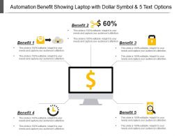 automation_benefit_showing_laptop_with_dollar_symbol_and_5_text_options_Slide01