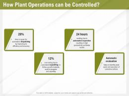 Automation Benefits How Plant Operations Can Be Controlled Ppt Powerpoint Presentation File Brochure