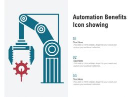 Automation Benefits Icon Showing