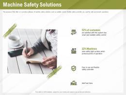 Automation Benefits Machine Safety Solutions Ppt Powerpoint Presentation Show Portfolio