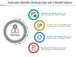 Automation Benefits Showing Gear With 4 Benefit Options