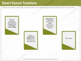 Automation Benefits Smart Sensor Solutions Ppt Powerpoint Presentation Summary Slide Portrait
