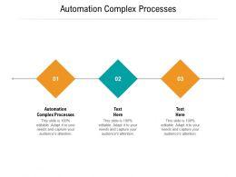 Automation Complex Processes Ppt Powerpoint Presentation Layouts Slide Portrait Cpb