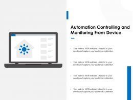 Automation Controlling And Monitoring From Device