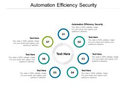 Automation Efficiency Security Ppt Powerpoint Presentation Portfolio Cpb