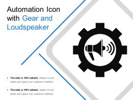 Automation Icon With Gear And Loudspeaker