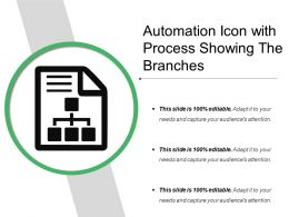 Automation Icon With Process Showing The Branches
