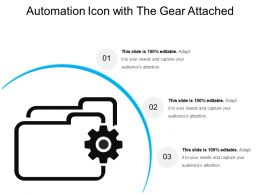 Automation Icon With The Gear Attached
