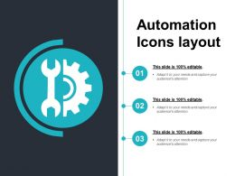 Automation Icons Layout Example Of Ppt