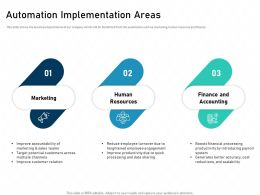 Automation Implementation Areas Benefitted Powerpoint Presentation Skills