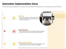 Automation Implementation Areas Customer Relation Ppt Presentation Visuals