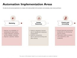 Automation Implementation Areas Sharing Ppt Powerpoint Presentation Icon Examples