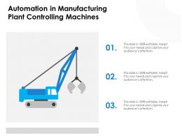 Automation In Manufacturing Plant Controlling Machines